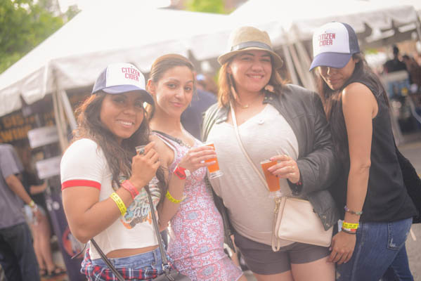 Women enjoying beer at the festival